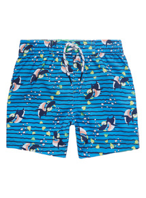 Blue Shark Swim Shorts (1 - 8 years)
