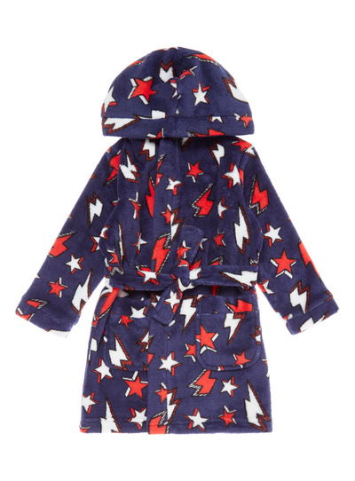 Navy Lightning Bolt Dressing Gown (1-12 years)