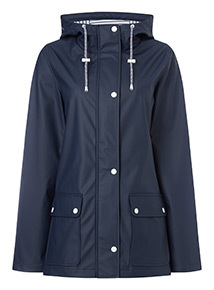 Navy Rubber Raincoat