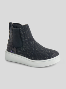 Black Shimmer Chelsea Boot (6 Infant - 4 Child)