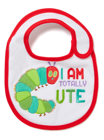 White The Very Hungry Caterpillar Bib