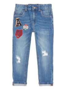 Denim Badged Jeans (3-14 years)