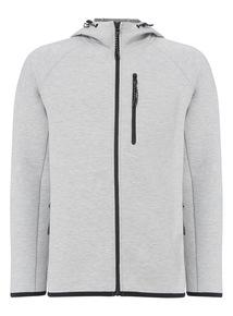 Grey Zip Through Performance Hoodie