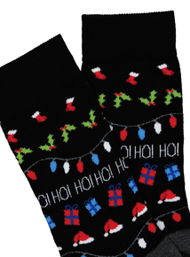 Christmas Multicoloured Ho! Ho! Ho! Ankle Socks