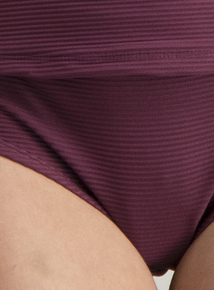Online Exclusive Burgundy Textured Swimwear Short