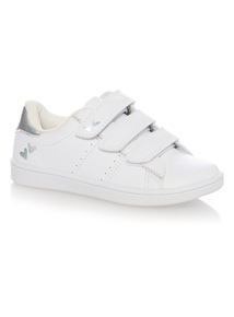 Girls White Cupsole Shoes