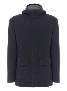 Dark Grey Hooded Jacket