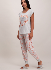Grey 'Wild Flowers' Pyjamas