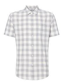Grey Gingham Shirt