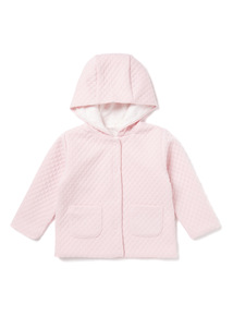 Pink Quilted Hoody (0-24 months)