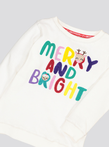 Christmas Cream Slogan Jumper (9 Months - 6 Years)