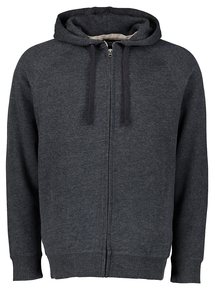 Charcoal Grey Zip-Through Hoodie