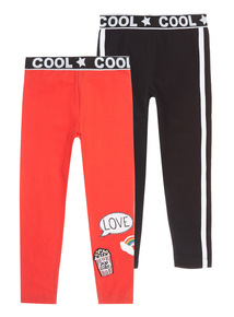 Multicoloured Cool Leggings Set 2 Pack (3-12 years)