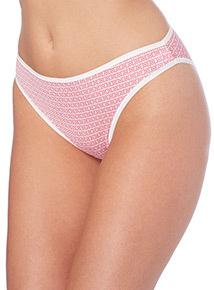 Pink Microfibre High Leg Briefs