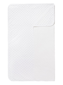 White Velboa Blanket (0-24 months)