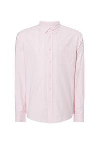 Pink Stripe Stretch Regular Fit Oxford Shirt