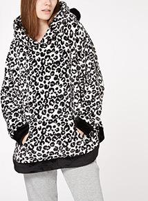 Animal Print Fleece Top
