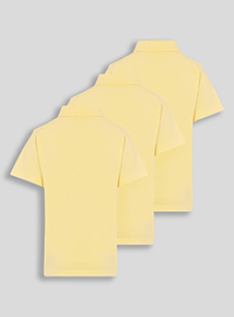 Unisex Yellow Polo Shirts 3 Pack (3-12 years)