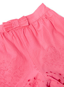 Pink Broderie Anglaise Shorts (9 months-6 years)