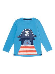 Blue Pirate Pug T-Shirt (9 months- 5 years)