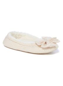 Sparkle Bow Ballerina Slippers