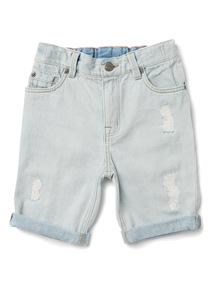 Denim Ripped Washed Shorts (3-14 years)