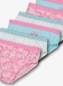 3e971203c Multicoloured Flamingo Print Briefs 10 Pack (2 - 12 years)