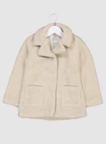 Cream Teddy Fleece Coat (3-14 years)