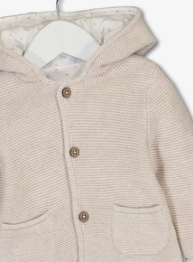 Oatmeal Hooded Cardigan (0 - 24 Months)