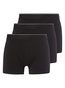 3 Pack Black Trunks