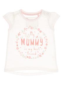 Girls White Mummy Tee (0 - 24 months)