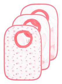 3 Pack Pink Woodland Popover Bibs
