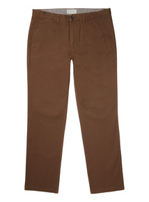 Brown Straight Chinos