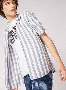 GFW Revere Collar Bowling Stripe Shirt
