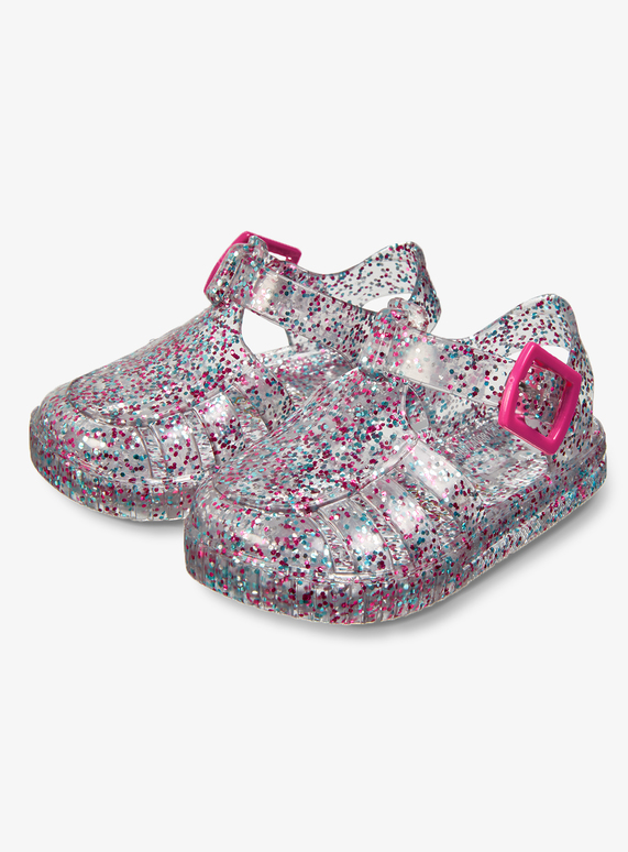 ea7922b01df7 ... Multicoloured Glitter Baby Jelly Shoes (2 Infant - 5) ...
