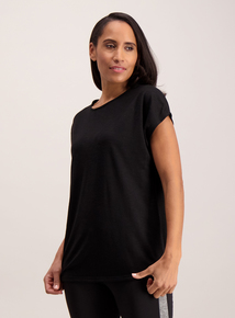Active Black Cross Back T-Shirt