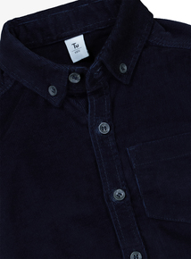 Navy Cord Button Down Shirt (3-14 Years)