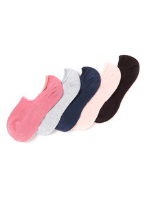 5 Pack Multicoloured Sport Footsies