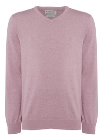 Pink V-neck Jumper