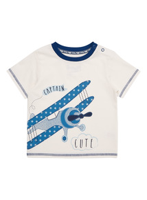 White Captain Cute Tee (0 - 24 months)