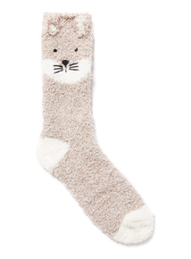 Brown Totes Fox Supersoft Socks