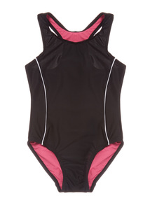 Girls Black Swimsuit (3-12 years)