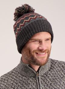 Multicoloured Fairisle Knit Beanie Hat