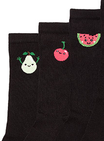 5 Pack Fruit Patterned Socks