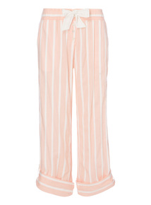 Coral Striped Bottoms