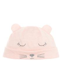 Pink Cat Hat (0-24 months)