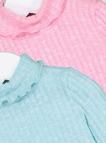 Multicoloured Roll-Over Jumpers 2 Pack (9 Months - 6 Years)