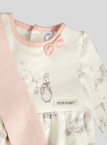Peter Rabbit Pink Print Dress and Tights Set (Newborn - 12 months)