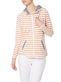 Striped Hooded Sweat