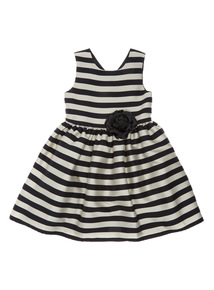 Multicoloured Stripe Occasion Dress (3 - 12 years)